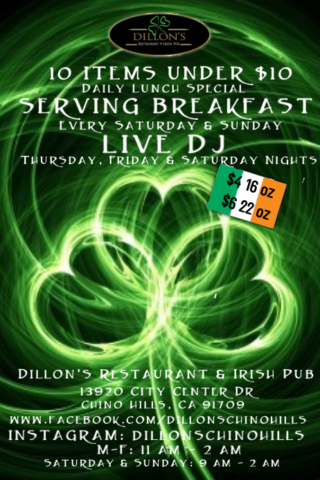 Irish Pub Poster Template
