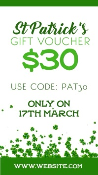 St patricks gift voucher
