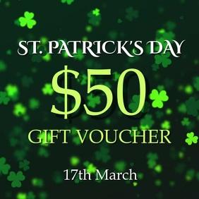 St Patricks gift voucher