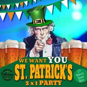 St Patricks Instagram Digital Template