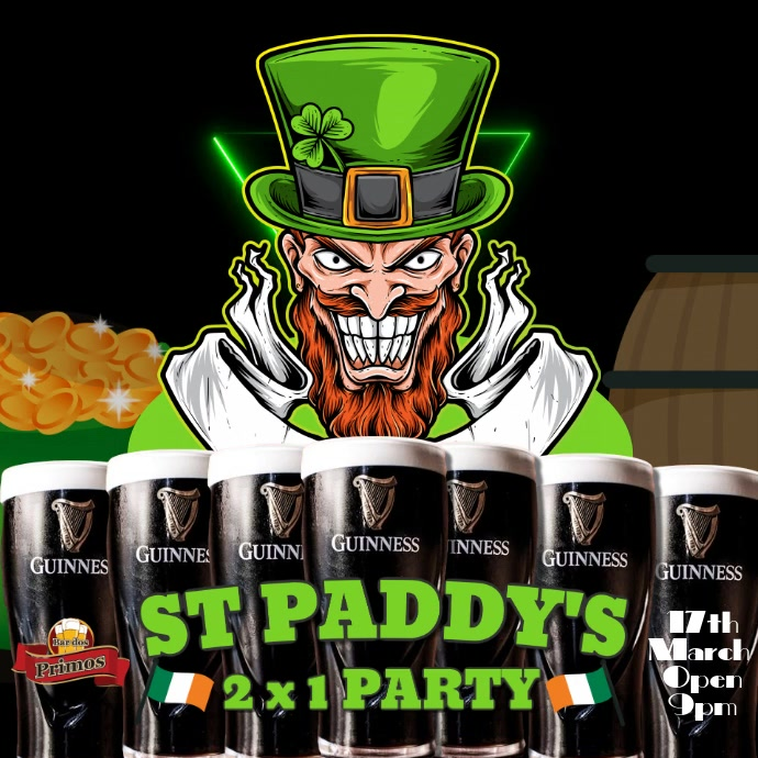 St Patricks Instagram Digital Promo Template