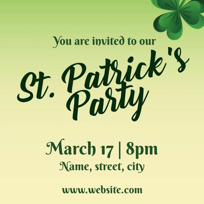 St Patricks invite