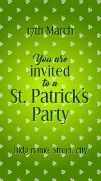 St Patricks party invite