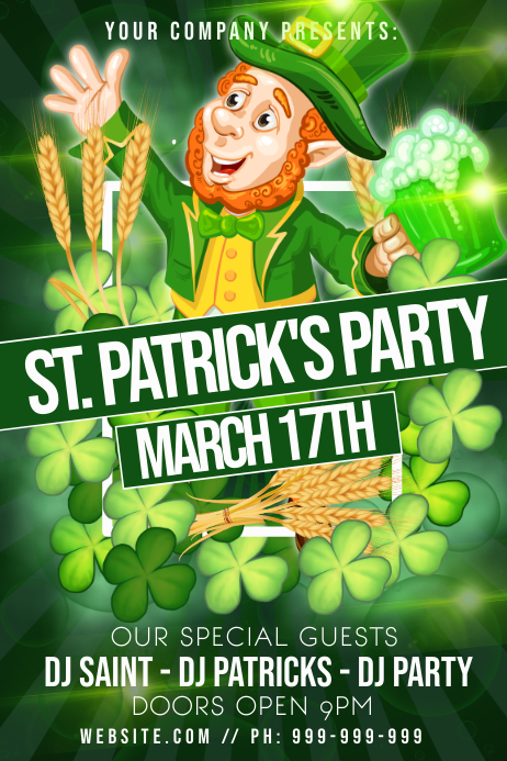 St Patricks Party Poster