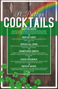 st Patricks Pattys cocktail list featured men