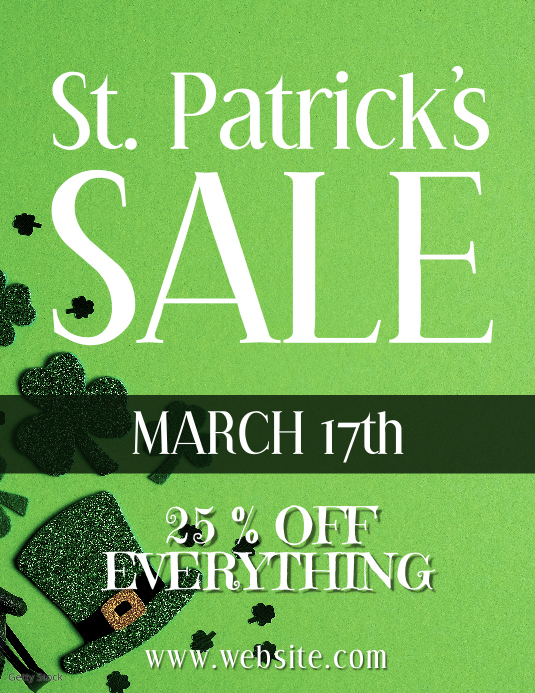 St Patricks sale Pamflet (Letter AS) template
