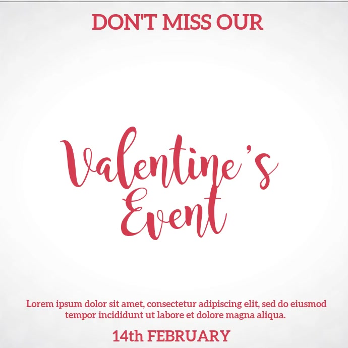 St Valentine's Day Ad Video Template