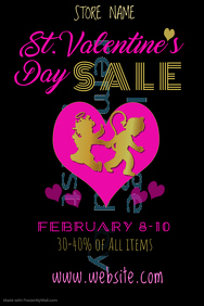 St Valentine's Day Sale Poster Template