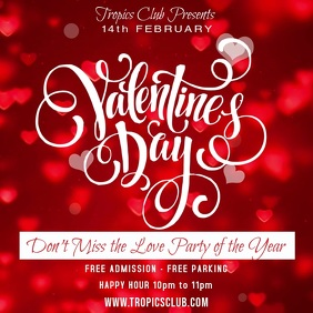 St Valentines Day Party Event Video Template