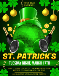 St. Patrick's, Saint Patrick Party Flyer (US Letter) template