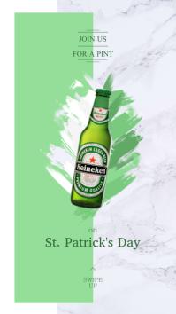 St. Patrick's Beer Ad Instagram Story