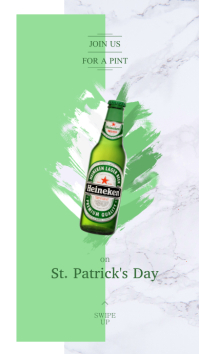 St. Patrick's Beer Ad Instagram Story template