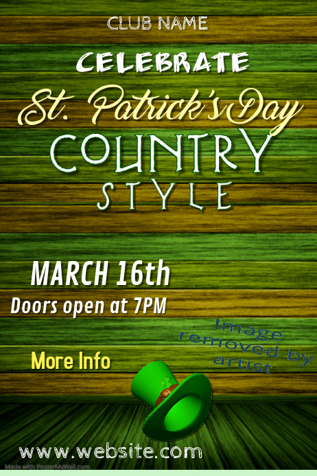 St. Patrick's Country Style Poster