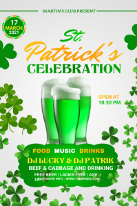 St. Patrick's Day Banner 横幅 4' × 6' template