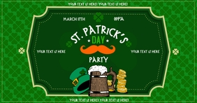 ST. PATRICK'S DAY BANNER Facebook Shared Image template