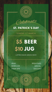 St. Patrick's Day Bar Event Instagram Story