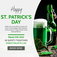 st. patrick's day bar party instagram post ad Instagram-bericht template