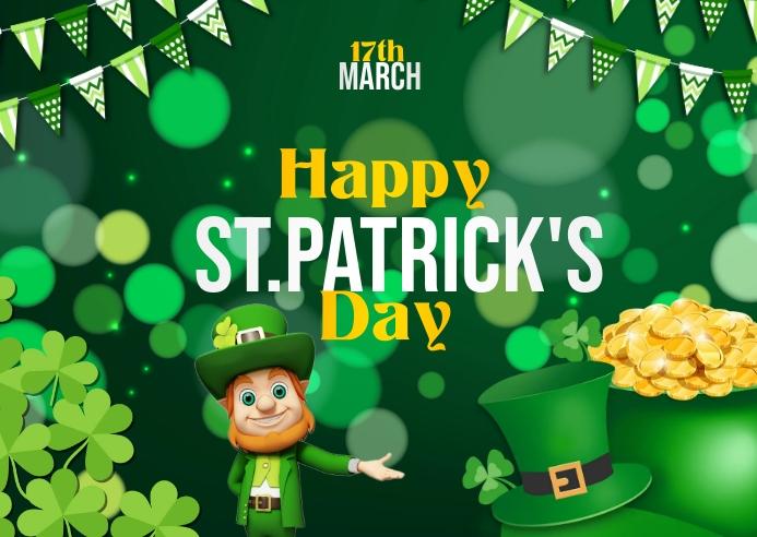 St. Patrick's Day ไปรษณียบัตร template