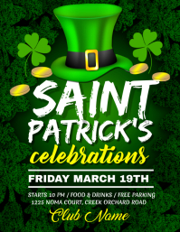 St. Patrick's Day Flyer, Saint Patrick, celebrations template