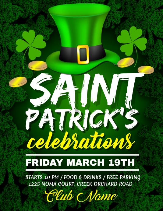 St. Patrick's Day Flyer, Saint Patrick, celebrations template