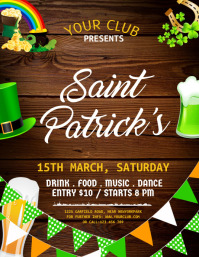 St. Patrick's Day Flyer, Saint Patrick Party template