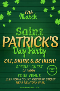 St. Patrick's Day Flyer, St. Patrick's Party Flyer