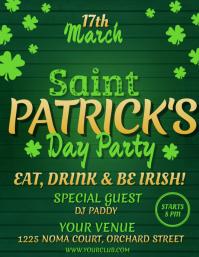 St. Patrick's Day Flyer, St. Patrick's Party Flyer template