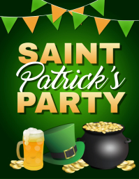 St. Patrick's Day Flyer, St. Patrick's Party Flyer