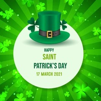 St. Patrick's Day Instagram post Instagram-Beitrag template