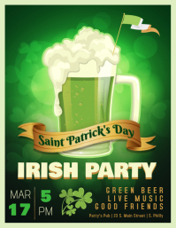 St. Patrick's Day Irish Party Flyer