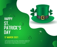 St. Patrick's Day Medium Rectangular ads Retângulo médio template