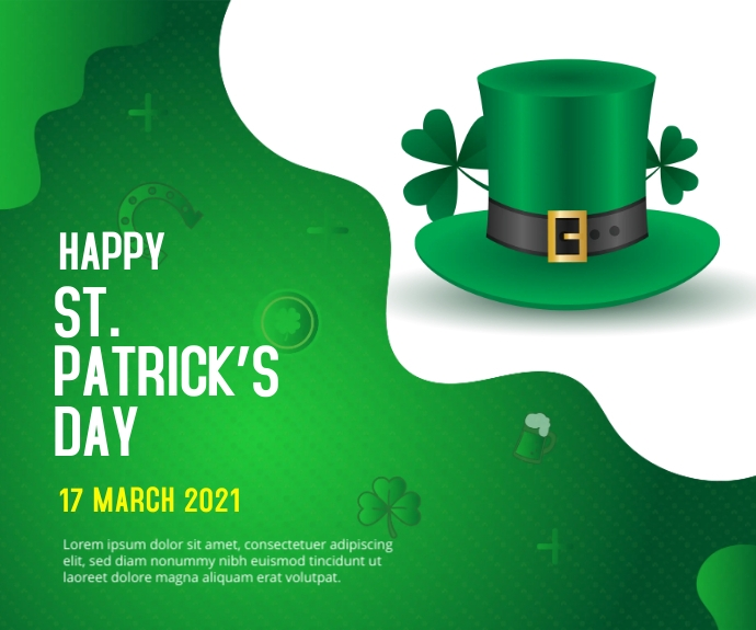 St. Patrick's Day Medium Rectangular ads Rectángulo Mediano template
