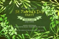 St. Patrick's Day Party Invitation Etiqueta template