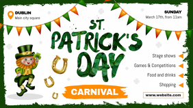 St. Patrick's Day Pub Ad Digital Display Image Digitale Vertoning (16:9) template