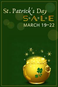 St. Patrick's Day Sale Plakat template