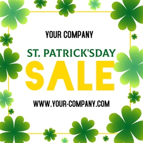 St. Patrick's Day Sale Instagram Post template