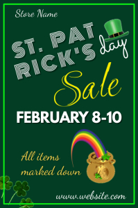 St. Patrick's Day Sale Poster