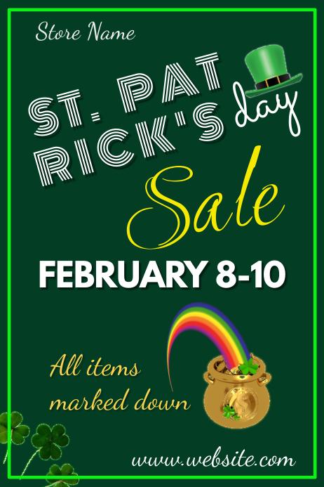 St. Patrick's Day Sale Poster