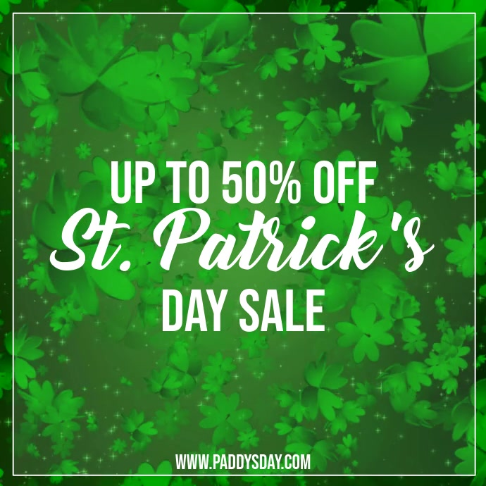 St. Patrick's day sale video