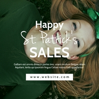 st. Patrick's Day sales instagram post advert template