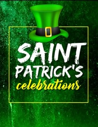 St. Patrick's Day Video, Flyer (US Letter) template