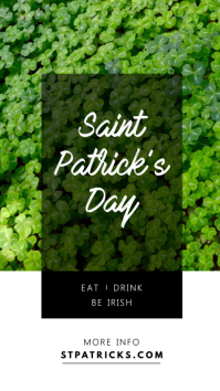 St. Patrick's Day White and Green Instagram Story