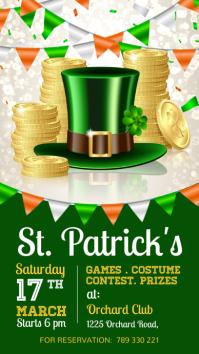 St. Patrick's Instagram story, Saint Patrick template