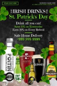 St. Patrick's Irish Drinks 2021 Template Poster