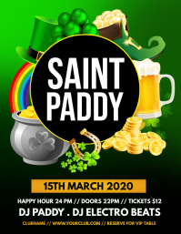 St. Patrick's Party, Saint Patrick Flyer (US Letter) template