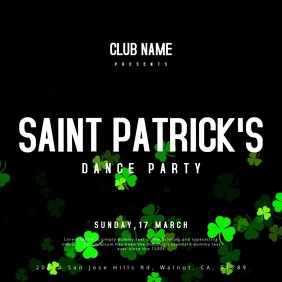St. Patrick's Party Square (1:1) template