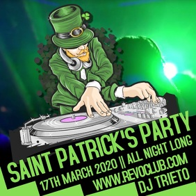 St. Patrick's Party Night Event Video Template