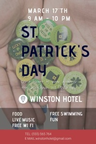 ST. PATRICK'S POSTER template