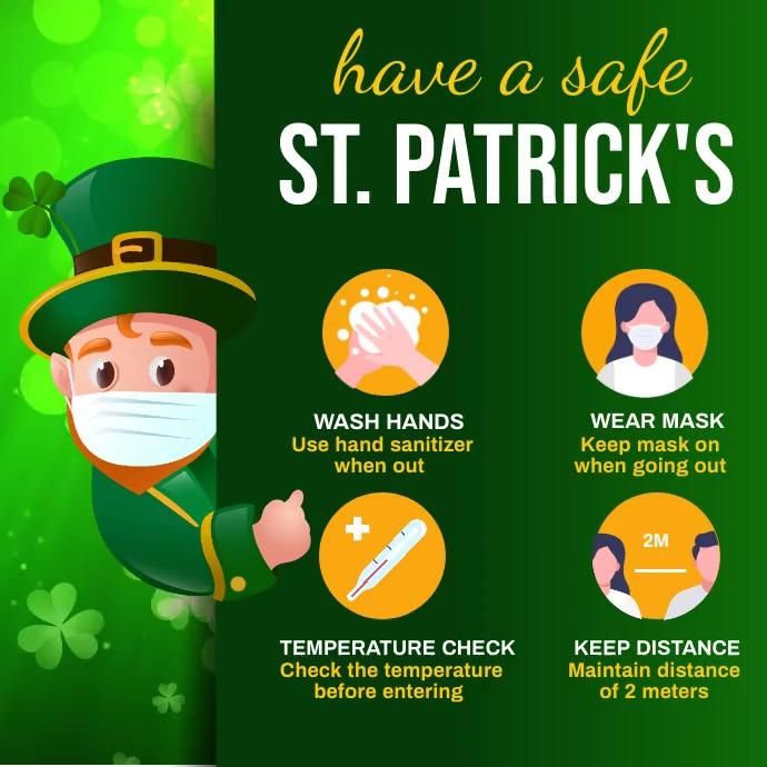 St. Patrick's Video, Saint Patrick Instagram Post template