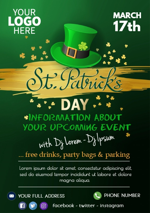 St. Patrick´s Day Event Flyer Party